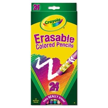 Crayola 24-Color Erasable Pencil Set PENCILCLRERSB24STAST 091566 Pack of 10