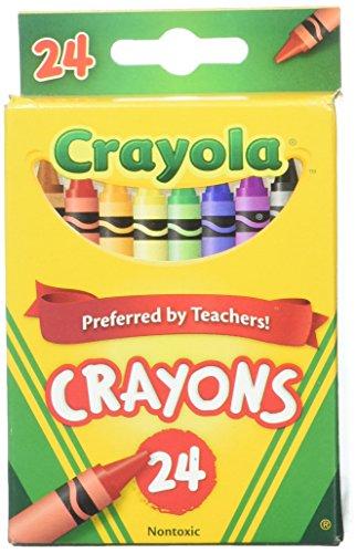 Crayola 24 Count Box of Crayons Non-Toxic Color Coloring School Supplies 2 Packs