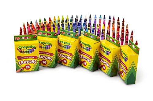Crayola 24 Count Crayons 6-Pack Renewed