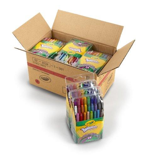 Crayola Mini Twistable Crayons 24 Colors per case - Case of 12