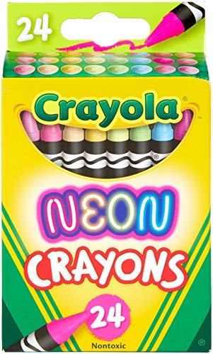 Crayola Neon Crayons Back to School Supplies 24Count