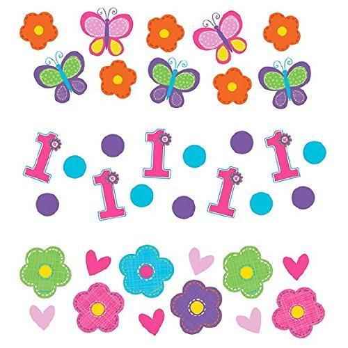 Amscan Sweet Birthday Girl 1st Birthday Value Party Confetti 12 oz PinkPurpleGreenOrangeBlue
