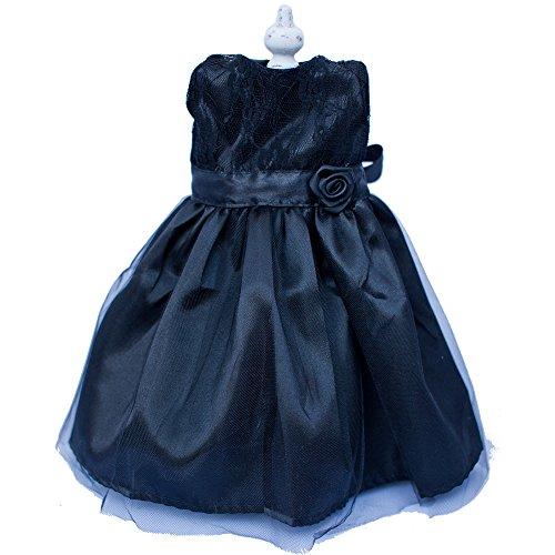 Doll Dress for 18 Inch Dolls Enchanted Ebony Gown By Chloe