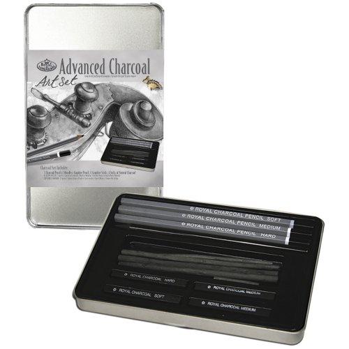Royal Langnickel Small Tin Charcoal Drawing Art Set