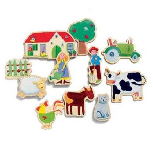 Djeco Wooden Magnet Farm