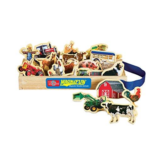 TS Shure Farm Vehicles Wooden Magnets 20 Piece MagnaFun Set