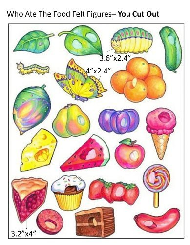 Who Ate the Food Hungry Caterpillar Butterfly Felt Figures for Flannel Board Stories - You Cut Out