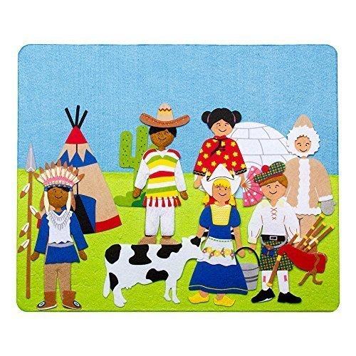 Sprogs- Felt Storyboard - International People in Traditional Dress 15 x 125