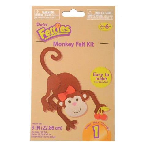 Bulk Buy Darice Crafts for Kids Felties Felt Activity Kit Monkey 9 inches 6-Pack FLT-2105