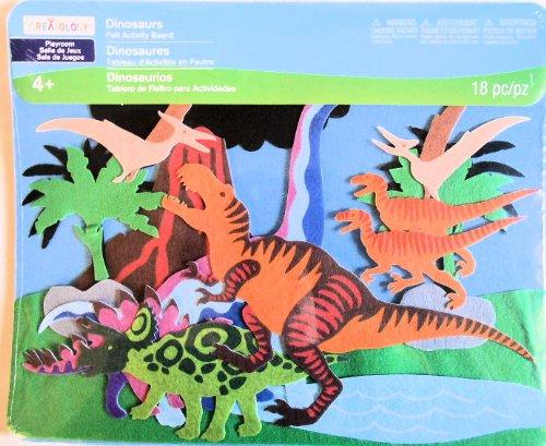 Dinosaur T-rex Felt Activity Board Toy 18 Piece 115 X 14 Inches
