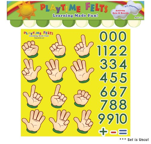 Finger Counting Numbers 1-10 Felt Activity Set