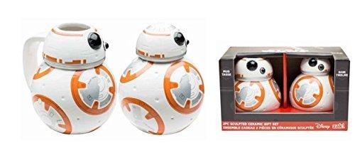 Star Wars EP7 Force Awaken BB8 Piggy Bank and Coffee Mug Gift Set