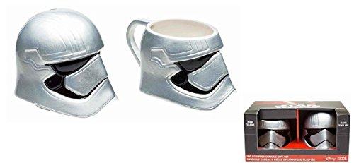 Star Wars EP7 Force Awaken Captain Phasma Piggy Bank and Coffee Mug Gift Set