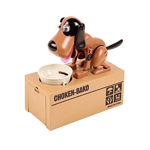 Infinal Choken Bako Dog Bank Robotic Coin Munching Toy Money Box B