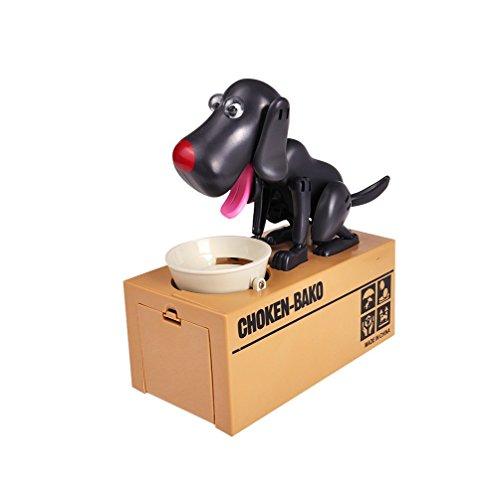 Just us Choken Bako Dog Bank Robotic Coin Munching Toy Money Box Black