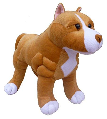 ADORE 13 Standing Boss the Pit Bull Dog Plush Stuffed Animal Toy