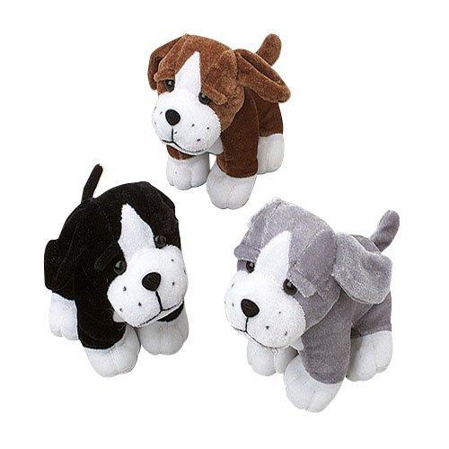 US Toy Sitting Puppy Dog Stuffed Animals Plush 1 Dozen Assorted Color