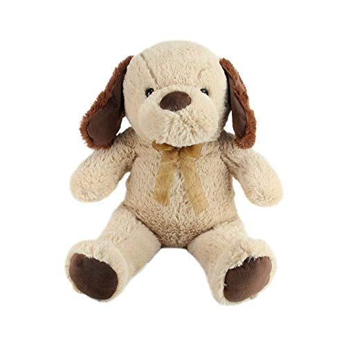 Northlight 21 Brown and Tan Super Soft Plush Stuffed Puppy Dog Figure