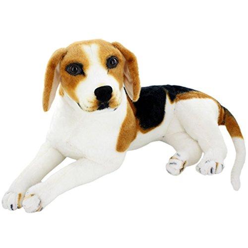 Jesonn Giant Realistic Stuffed Animals Beagle Dog Plush Toys216 or 55CM1PC