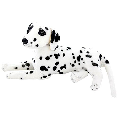 Jesonn Realistic Stuffed Animals Dog Plush Toys Dalmatian12 or 30CM1PC