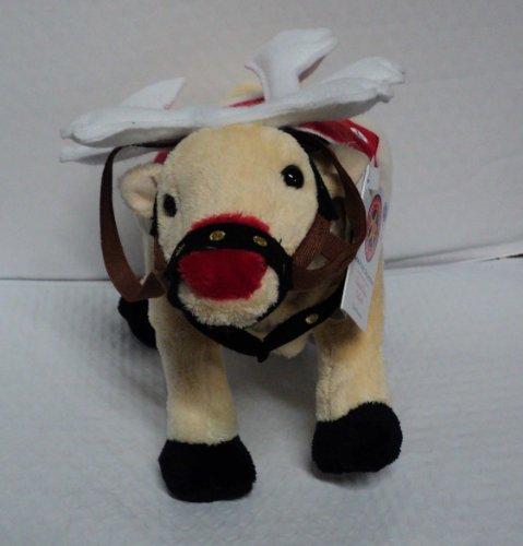 2006 Cow Parade Moodolf Christmas Stuffed Cow
