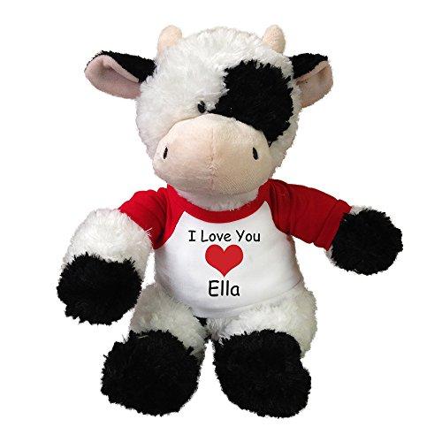 Personalized Stuffed Valentine Cow - 12 Tubbie Wubbie Cow