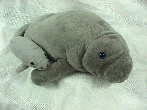 Wishpets Manatee 17 L with Baby 8 L Plush Toy Stuffed Animal