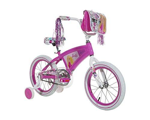 Barbie Girls Bike with Light Up Frame PinkWhite 16One Size