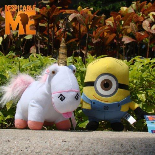 Despicable Me Plush Toy Character Set Of 2 Stewart Unicorn Stuffed Animal Doll