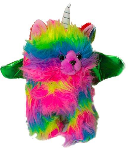 Kitchi Kitten Stuffed Animal Plus Toy Fun Colorful Kitten Unicorn With Green Wings