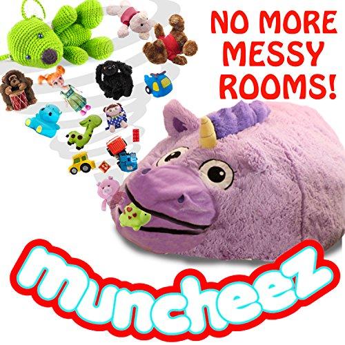 Muncheez Unicorn Stuffed Animal Coolest Toy Organizer For Children - Plush Cuddly Toy Storage Solution For Kids