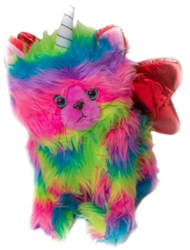 Rainbow Butterfly Unicorn Kitten Stuffed Toy With Red Wings