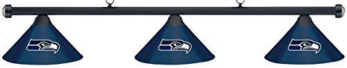NFL Seattle Seahawks Blue Metal Shade Black Bar Billiard Pool Table Light