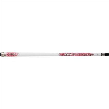 Scorpion SCO107 Pink White Scorpion Transfer PoolBilliards Cue Stick