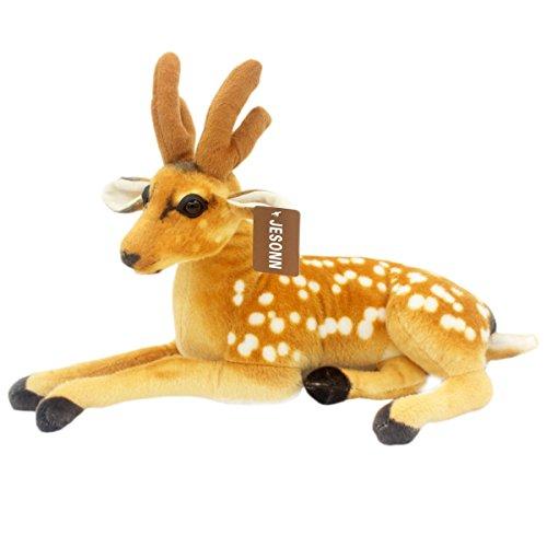 JesonnRealistic Stuffed Plush Toy Spotted DeerBrown18948CM1PC