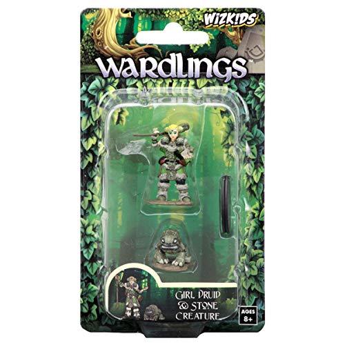 FanHeads Wizkids Wardlings Rpg Figures Girl Druid and Stone Creature
