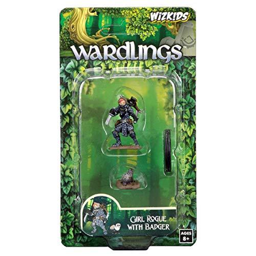 WizKids Wardlings RPG Figures Girl Rogue Badger