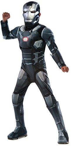Rubies Costume Captain America Civil War - War Machine Deluxe Muscle Chest Child Costume Medium