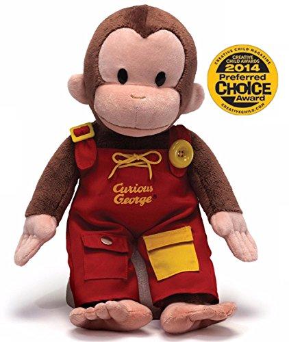 16 Soft Plush Curious George Teach Me Childrens Stuffed Animal Toy