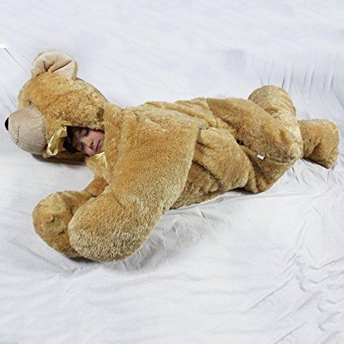 SnooZzoo Brown Bear Childrens stuffed animal sleeping bag GIANT 66 inches tall