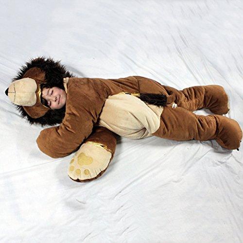 SnooZzoo Lion childrens stuffed animal sleeping bag GIANT 60 inches tall