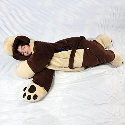 SnooZzoo Monkey childrens stuffed animal sleeping bag GIANT 66 inches tall