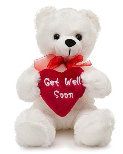 Redi Plush 8 Get Well Soon Stuffed Teddy Bear - White