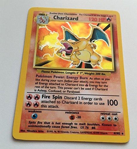 Pokemon - Charizard 4102 - Base Set - Holo Card