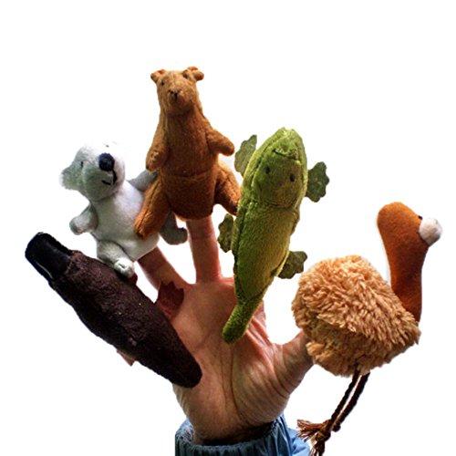 Happy Cherry Australian Representative Animals KoalaKangarooAlligatorPlatypus Plush Finger Puppets Toys