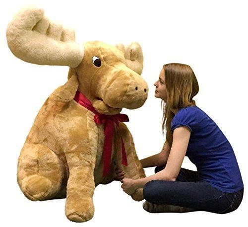 American Made Giant Stuffed Moose Soft Huge Stuffed Animal 45 Inches by BigPlush