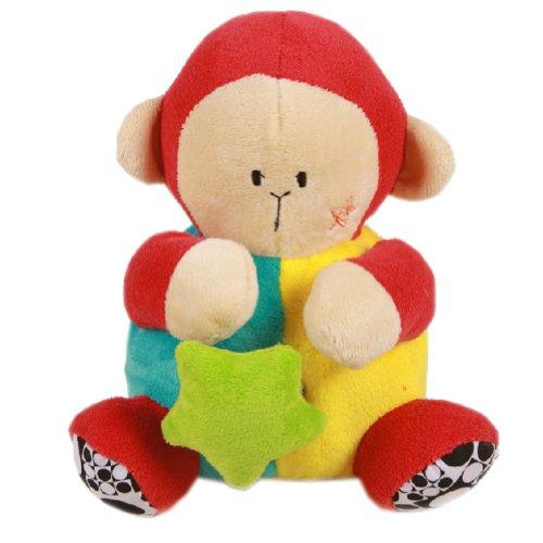 Brown Monkey Toddler Shaking Plush Toys Cute Baby Stuffed Animals Infant Toys
