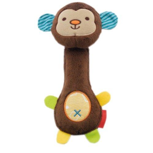 Toddler Shaking Plush Toys Cute Baby Stuffed Animals Infant Toys MONKEY