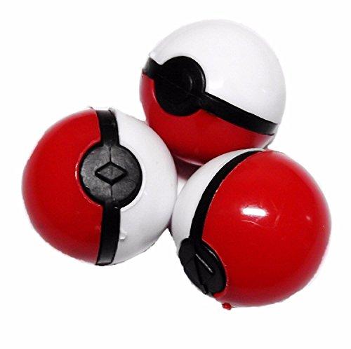 Pokemon Pokeballs Set of 3 w Mystery Silicone Pokemon Inside each Ball