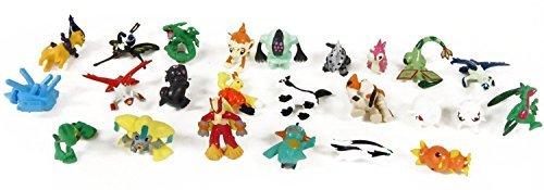 Pokemon Set of 24 pieces - 1 Inch Mini Action Figure Set by Pokémon PKX NEW